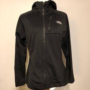 Northface Black Hooded Knit Zip Up Jacket/ Coat- L